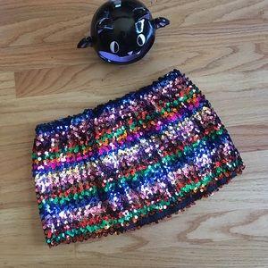 🌈 Rainbow sequin tube top 🌈